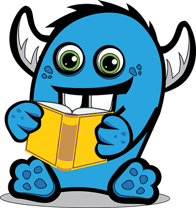 Monster reading book